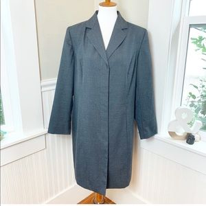 Venezia Long Gray Lightweight Tweed Long Blazer